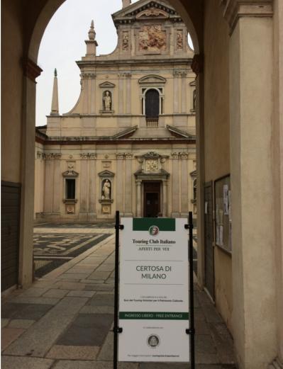 Aperto il Touring Club per la Certosa di Milano