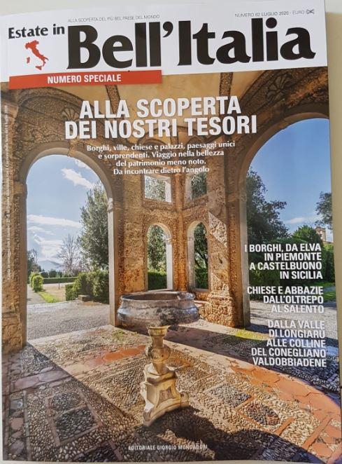 """Siamo sul giornale di """"Bell'Italia"""" anche a luglio 2020"""