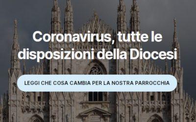 Coronavirus, tutte le disposizioni della Diocesi