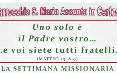 Settimana Missionaria 25-31 marzo 2019